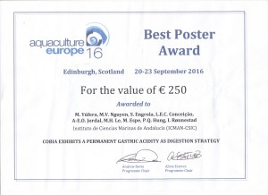 Best Poster Award EAS 2016